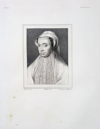 Margherita di Valois. Etching from a Painting by Cristofano Amberger. Cav. Lasinio, Lorenzo Metalli.