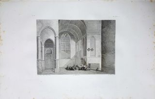 Interno di tempio Protestante. Etching from a Painting by Pieter Jansz. Saenredam. Gaetano...