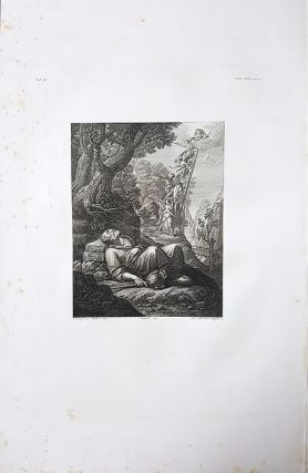 Il sogno di Giacobbe. Etching from a Painting by Cristofano Allori.