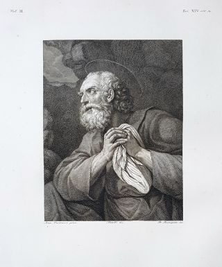 S. Pietro pentito. Etching from a Painting by Annibale Carracci. Francesco Rosaspina, Lorenzo...
