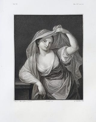 Ritratto ignoto. Etching from a Painting by Angelica Kauffmann. Giovanni Ballero, Lorenzo Metalli