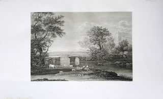 Paese. Etching from a Painting by Claude Lorrain. Pietro Bulli, Enrico Gonin.