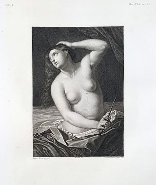 Lucrezia. Etching from a Painting by Guido Reni. Cav. Lasinio, Lorenzo Metalli.