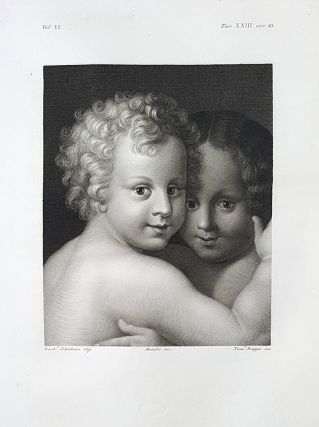 Teste di putti. Etching from a Painting by Bartolommeo Schidone o Schedone. Tommaso Raggio,...