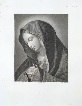 Maria Vergine. Etching from a Painting by Carlo Dolci. Tommaso Raggio, Lorenzo Metalli