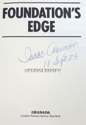 Foundation's Edge. (Signed Copy).