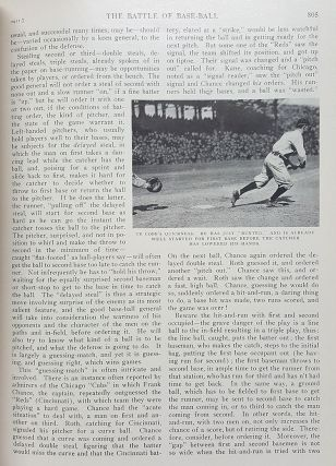 The Battle of Base-Ball in St. Nicholas: An Illustrated Magazine for Young Folks Volume XXXVIII, May to October, 1911.