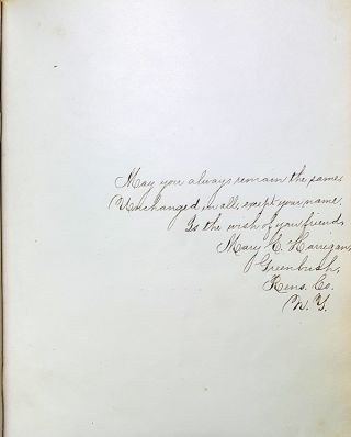 Civil War Era Autograph Book Belonging to a Student of the Albany State Normal School (Now SUNY Albany).
