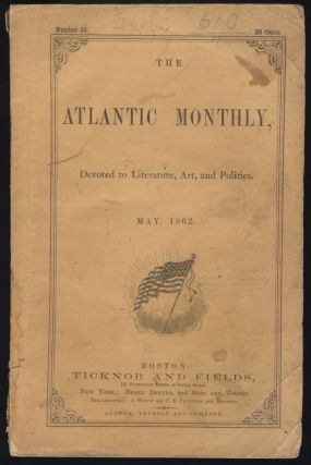 Slavery, in Its Principles, Development, and Expedients in The Atlantic Monthly May 1862. Edwin...