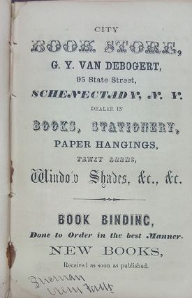 The Schenectady City Directory; Containing the Names and Residences of the Citizens; Also, a Business Directory, Classified According to Trade. Together with an Appendix, Containing Much General Information. 1857.