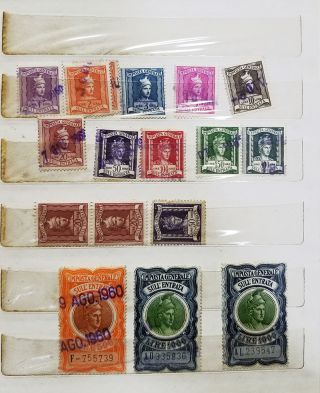 A Collection of Vintage Italian Revenue Stamps.