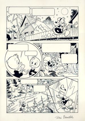 "Bancells Pujadas Donald Duck Original Comic Art from the Story ""Being Donald"" Antonio Bancells..."