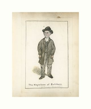 The Napoleon of Butchers Limited Edition Fine Folk Art Giclée Print. Harold Van Santvoord