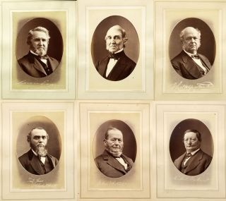 "Six Albumen Photos of Prominent Cincinnati Men from the Book ""Cincinnati Past and Present"" James..."