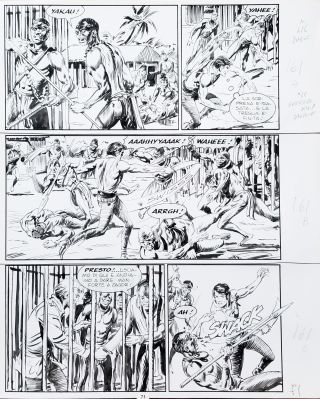 Gallieno Ferri Zagor #426 Page 71 Original Comic Art. Gallieno Ferri