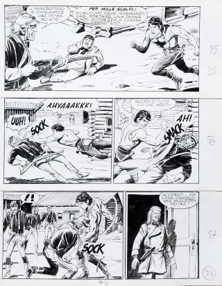 Gallieno Ferri Zagor #202 Page 23 Original Comic Art. Gallieno Ferri