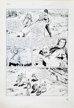 Marco Torricelli Special Zagor #11 Page 71 Original Comic Art. Marco Torricelli