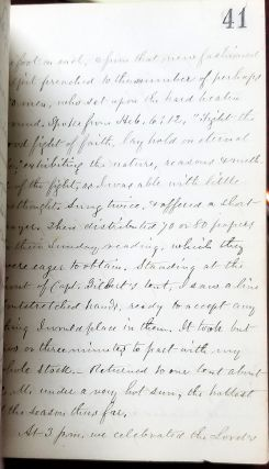 United States Christian Commission Handwritten Civil War Diary by Reverend James Hoyt of the First Presbyterian Church of Orange, NJ.