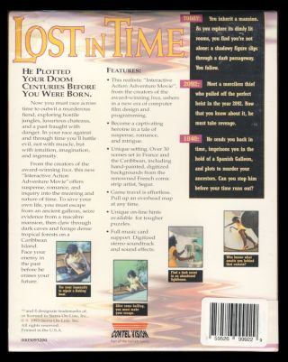 Lost in Time. (PC CD-Rom Version Sealed in Box).