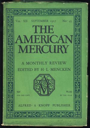 We Rob a Bank in The American Mercury September 1927. Ernest Booth