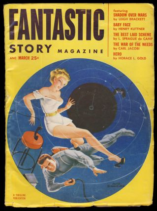 Shadow Over Mars in Fantastic Story Magazine March 1953. Leigh Brackett