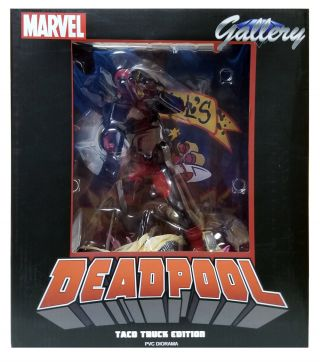 Marvel Gallery Deadpool Taco Truck Edition PVC Diorama Figure.
