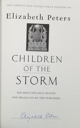 Children of the Storm. (Signed First Edition).