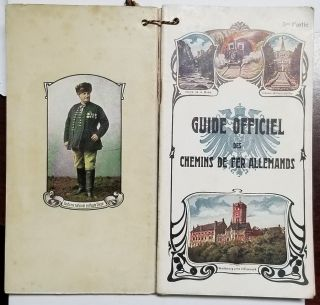 Guide officiel des chemins de fer Allemands. (French Language Guides to German Railways - Complete in Six Volumes).