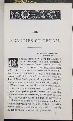 The Beauties of Upham. Selected and Arranged from the Author's Published Works, Together with Some Original Articles by Margaret H. Morris.