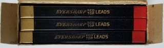 Vintage Eversharp Mechanical Pencil Red Top Leads in the Original Box.