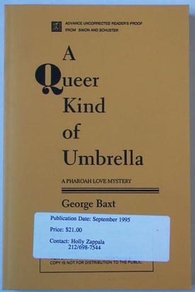 A Queer Kind of Umbrella. George Baxt