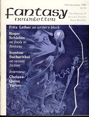 Fantasy Newsletter #43 December 1981. Robert A. Collins, ed.