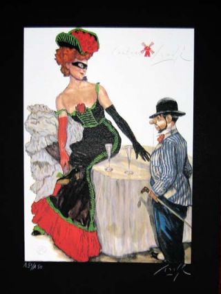 Limited Edition Signed and Numbered Print - #4 from Cabaret Lautrec. Gradimir Smudja