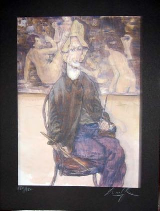 Limited Edition Signed and Numbered Print - #9 from Cabaret Lautrec. Gradimir Smudja