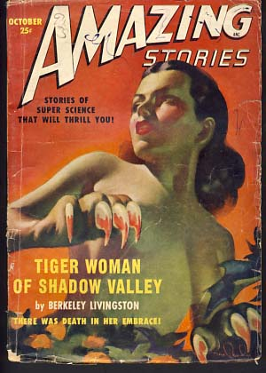 Amazing Stories October 1949. Howard Browne, ed.